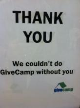 Thanks to all who made GiveCamp 2012 possible!