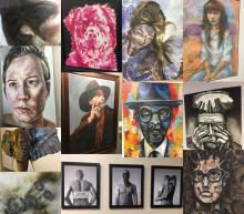Collage of Akron Art Prize 2016 art