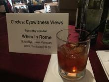 "Eyewitness Views Specialty Cocktail: ""When In Rome"""