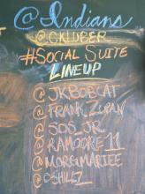 Chalkboard showing Social Suite Lineup