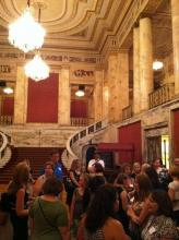 Ohio Blogging Association Members Gather in Palace Theatre Lobby