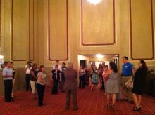 Ohio Theatre Lobby - Plain-looking walls