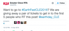 Retweet to win EarthFest 2016 tickets!