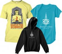 March for Science Cleveland shirts and hoodies