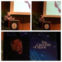 Apple Co-Founder Steve Wozniak's lecture at Akron University