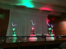 Tesla Orchestra - musical Tesla coils converting music into lightning bolts!