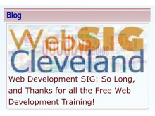 On November 19, 2016, at 10:30 a.m., Stuart formally announced that he will not be running the Web Development Special Interest Group (SIG) any longer.
