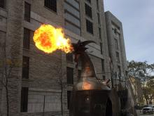 A fire-breathing dragon courtesy of the Heavy Meta Collective.